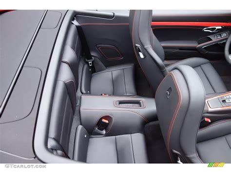 porsche 911 back seat 2016 porsche 911 turbo s cabriolet rear seat photo