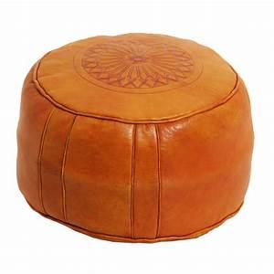 Sitzkissen Aus Leder : marokkanische leder sitzkissen asli orange bei ihrem orient shop casa moro ~ Sanjose-hotels-ca.com Haus und Dekorationen