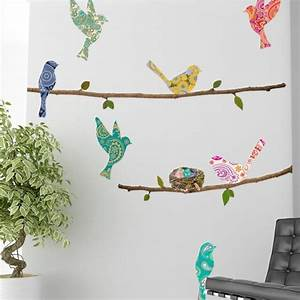 wall decal paisley birds branches wallsorts With top 20 paisley wall decals stickers