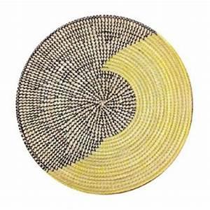 Set De Table Paille : set de table sous plat en paille de brousse jaune et noir terang 39 art ~ Teatrodelosmanantiales.com Idées de Décoration