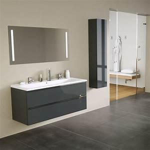 Grande Vasque Salle De Bain : deuzzio meuble vasque tiroirs grande longueur avec miroir ~ Teatrodelosmanantiales.com Idées de Décoration