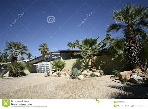 mid century modern home royalty free stock photo image