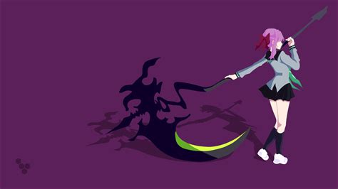 Simple Anime Wallpaper - hiiragi shinoa scythe vectors vector simple