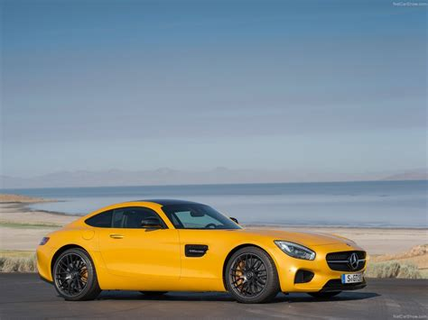 mercedes amg gt coupe cars 2015 germany yellow jaune