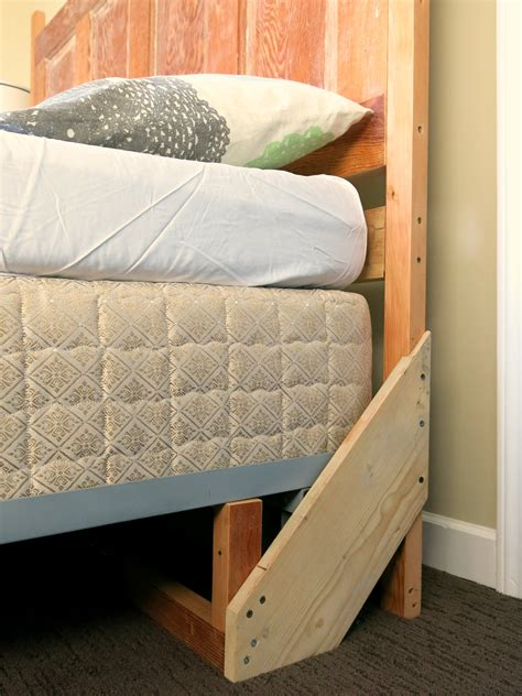 how to mount a door as a headboard how to build a sturdy freestanding bed frame headboard solves problem of an upright wooden door