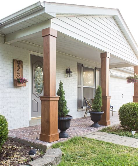 diy craftsman style porch columns shades  blue interiors