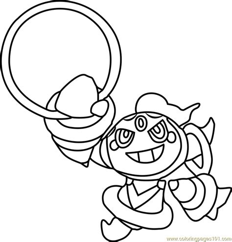 color hoop hoopa coloring page free pok 233 mon coloring pages