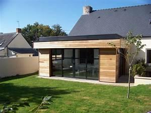 agrandissement bois 22 m2 a pontchateau 44 woodeal With photo de plan de maison 17 agrandissement maison bois extension bois