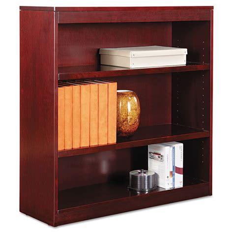 Alera Bookcase by Alera Square Corner Wood Veneer Bookcase Three Shelf 35