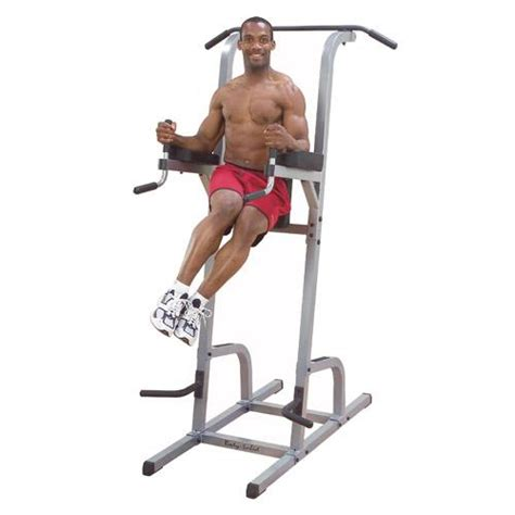 solid vertical knee raise dip pull up commercial grade