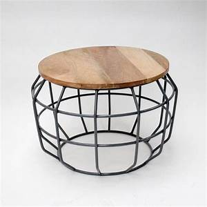 Lef collections coffee table pixel gray metal timber for Gray metal coffee table