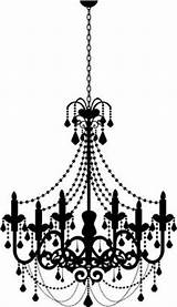 Chandelier Clipart Outline Silhouette Decal Candle Transparent Parede Webstockreview Stencil Stickers Adesivos Decoration Sticker sketch template