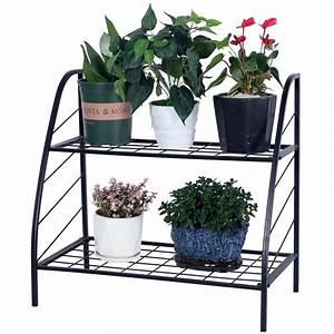 Ktaxon, 2, Tier, Plant, Stand, Planter, Rack, Step, Style, Metal, Plant, Stand, -, Walmart, Com
