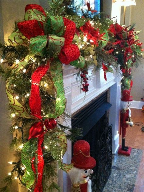 beautiful garland for fireplace mantle pictures