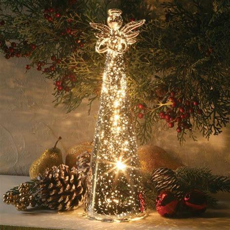 lighted mercury glass angel christmas