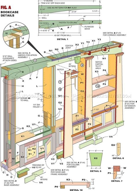 bookcase plans ideas  pinterest build