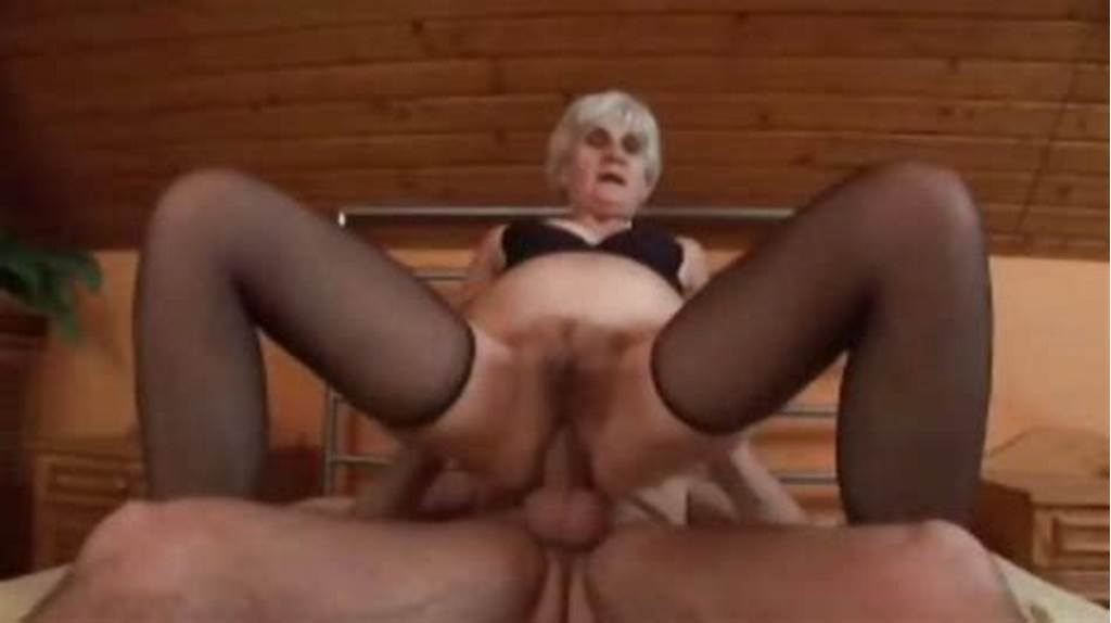 #Agile #Grey #Haired #Granny #In #Stockings #Fucks