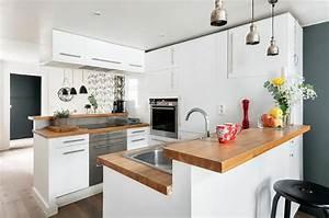 le blanc en tant que fond parfait pour une deco design With cuisine deco design