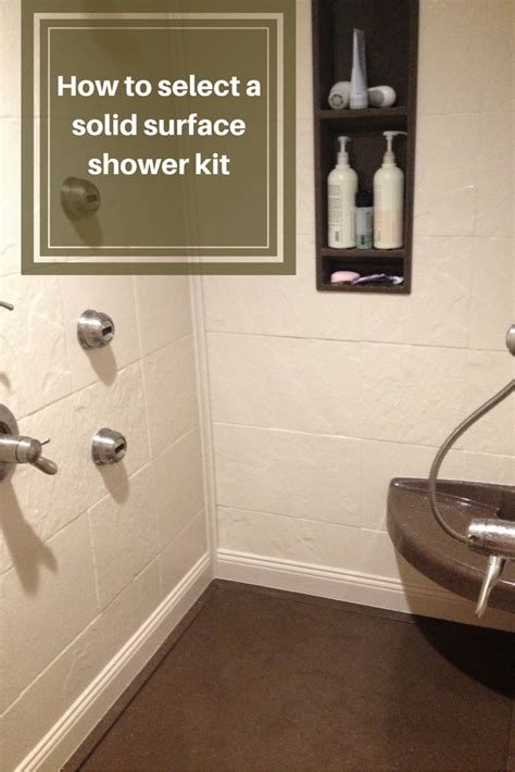 select  stone solid surface shower kit