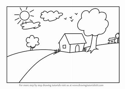 Step Scenery Draw Drawing Tutorials Scenes Places
