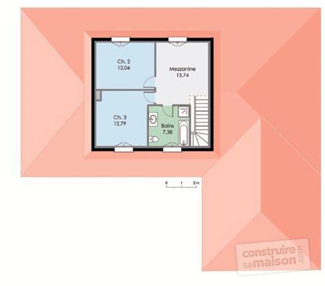 chambre parentale avec salle de bain maison contemporaine 3 dé du plan de maison