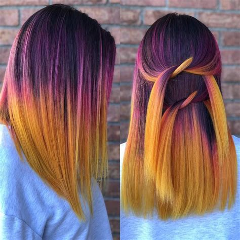 Sunset Hair Color Hair Artist Stephanyvanstone On
