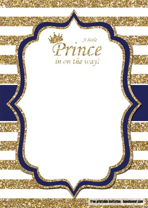 prince baby shower invitations templates bagvania