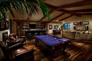 Man cave game room family room contemporary with black