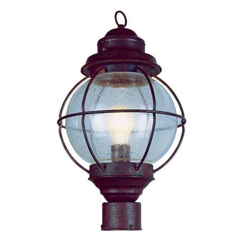 trans globe lighting one light rustic bronze medium outdoor post light