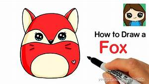 How to Draw a Cute Fox Easy | Squishy Squooshems - YouTube