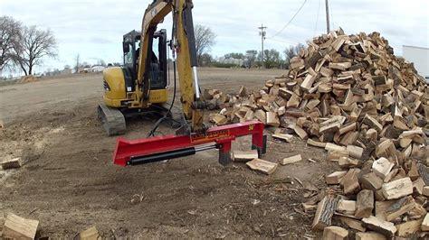 mini excavator  wood splitter youtube