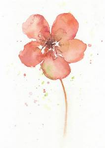 Flower flower art print Watercolor art print giclee by ...