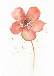 Flower flower art print Watercolor art print giclee by ...