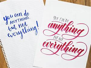 5 common misconceptions about brush pen lettering and With learn brush lettering