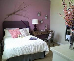 Bedroom in Thistle Purple and Agreeable Gray - Interiors
