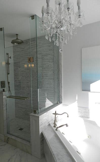 jacuzzi tub rain shower  chandelier