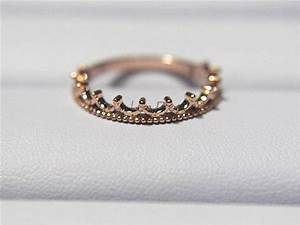 14k rose gold band rose wedding ring wedding band gold With crown design wedding rings