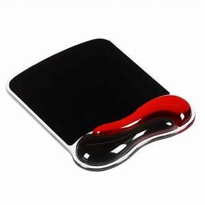 kensington tapis de souris duo gel coloris noir rouge With tapis de souris gel
