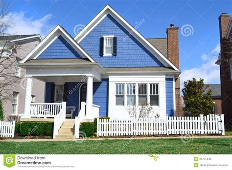 cape cod style homes plans blue cape cod style home stock photos image 23771443