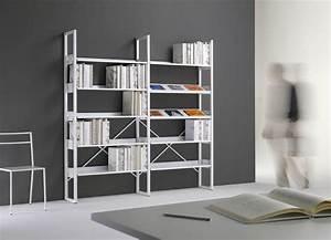 Arredare una biblioteca con mobili metallici Emme Italia