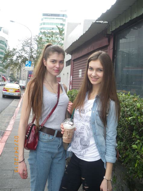 Two Gorgeous Russian Girls In The Streets Of Taipei 2013