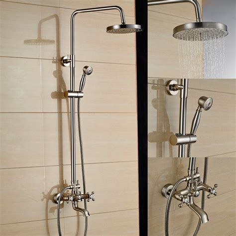 Shower Faucet Sets by Brushed Nickel Shower Faucet Set Tub Mixer Tap 8 Quot
