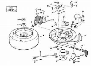 Johnson Magneto Parts For 1974 2hp 2r74e Outboard Motor