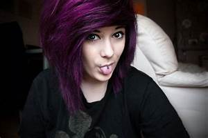 girl, hair, purple hair, scene - image #500069 on Favim.com
