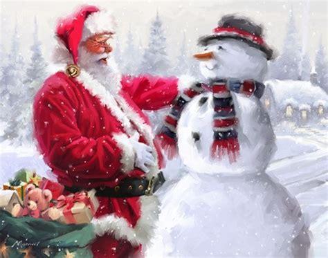 santa  snowman  fine art print   macneil studio