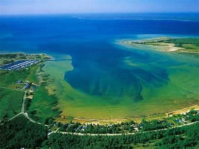 Michigan Lake Huron Places Usa America Superior