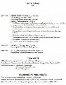 Resume university registrar for Cv for university application