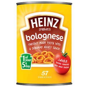 spaghetti bolognese kcal 菱 calories in heinz spaghetti bolognese