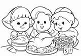 Coloring Pages Thanksgiving Meal Popular sketch template