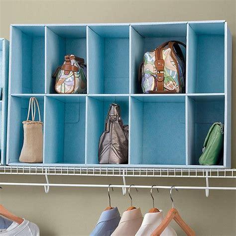 25 best ideas about purse organizer closet on